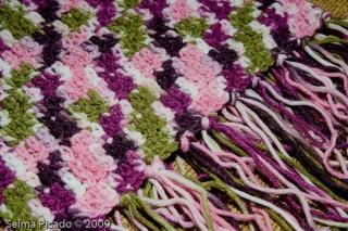 Cachecol em Crochet 4