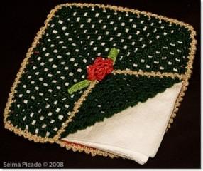 Porta-Guardanapos em Crochet