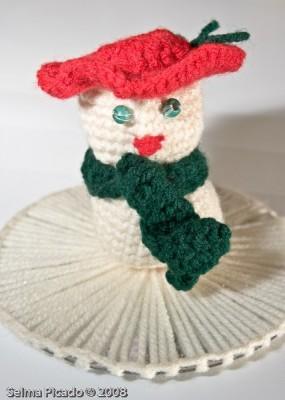 Boneco de Neve em Crochet