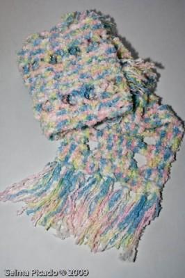 Cachecol em Crochet 1
