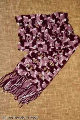 Cachecol em Crochet 2