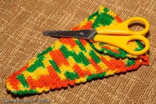 Porta-Tesoura em Crochet